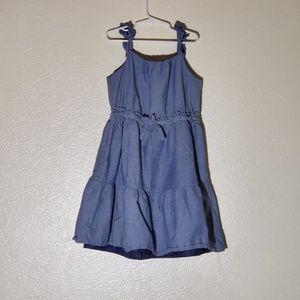 America living girls denim dress